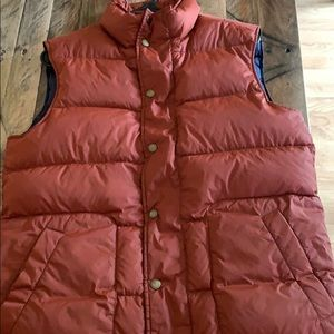 Burnt Orange Men's Small Lands' End Down Vest